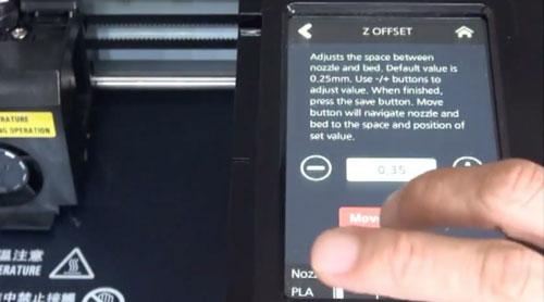 3DWOX Z Offset Setting