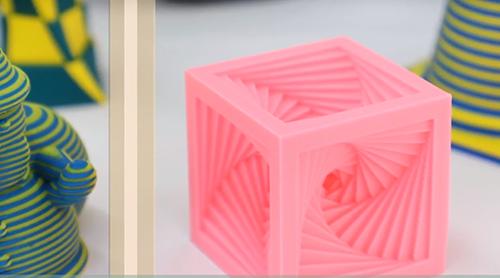 Sindoh、PVAフィラメントを使用した「スパイラルキューブ」の3Dプリント