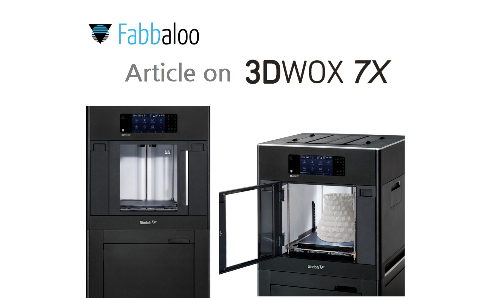 The Upcoming Sindoh 3D Printer, 3DWOX 7X by General Fabb, Fabbaloo.com